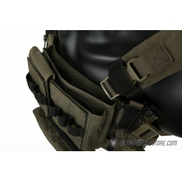 Emerson Gear Low Profile Modular Chest Rig System - RANGER GREEN