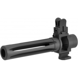 WE Tech M14 Airsoft Metal Flash Hider w/ Front Sight - BLACK