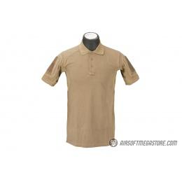Lancer Tactical Polyester Fabric Polo Shirt [Small] - TAN