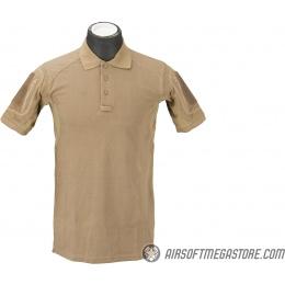 Lancer Tactical Polyester Fabric Polo Shirt [Large] - TAN