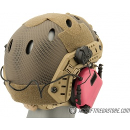 Earmor M32H MOD3 Tactical Communication Hearing Protector for FAST Helmet - PINK