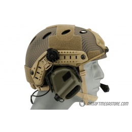 Earmor M32H MOD3 Tactical Communication Hearing Protector for FAST Helmet - FOLIAGE GREEN