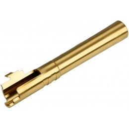 COWCOW Bull Style Threaded Outer Barrel for TM Hi-Capa 5.1 Pistols - GOLD