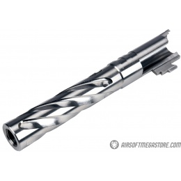 COWCOW Tornado Style Threaded Outer Barrel for TM Hi-Capa 5.1 GBB Pistols - SILVER