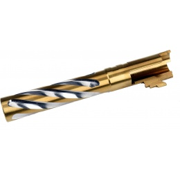 COWCOW Tornado Style Threaded Outer Barrel for TM Hi-Capa 5.1 GBB Pistols - GOLD