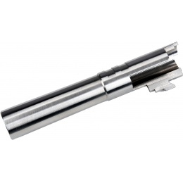 COWCOW Bull Style Threaded Outer Barrel for TM Hi-Capa 4.3 GBB Pistols - SILVER