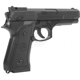 UK ARMS Airsoft Full Size Tactical M9 Heavyweight Pistol - Black
