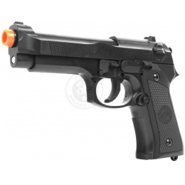UK ARMS Airsoft Full Size M1911 Hybrid Heavyweight Pistol - Black