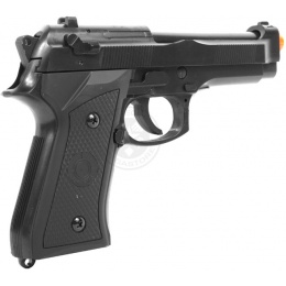 UK ARMS Airsoft Full Size M1911 Hybrid Heavyweight Pistol - Black