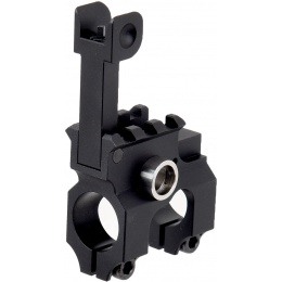 Lancer Tactical Airsoft Gas Block Flip-Up Front Sight - BLACK
