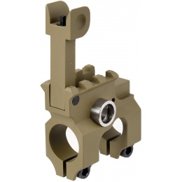 Lancer Tactical Airsoft Gas Block Flip-Up Front Sight - TAN