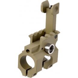 Lancer Tactical Airsoft Gas Block Flip-Up Front Sight - TAN