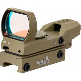Lancer Tactical 4 Reticle Red Control Reflex Sight - TAN