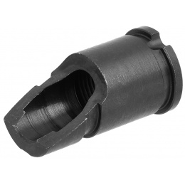WE Tech AKM Slant PMC Airsoft Rifle Metal Flash Hider - BLACK