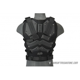 AMA Tactical Airsoft Vest Body AMA w/ Padded Chest Protector - TAN