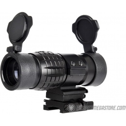 Lancer Tactical 1-3X Adjustable Magnifier w/ Picatinny Mount - BLACK