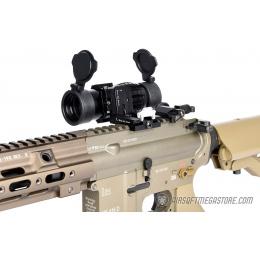 Lancer Tactical 1-3X Adjustable Magnifier w/ Picatinny Mount - BLACK