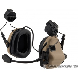 Earmor M32H MOD3 Tactical Communication Hearing Protector for FAST Helmet - TAN