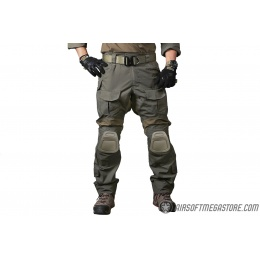 Emerson Gear Blue Label Combat BDU Tactical Pants w/ Knee Pads [Small] - RANGER GREEN