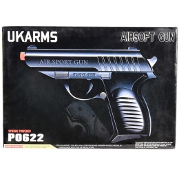 UKARMS P0622 Spring Airsoft Pistol - BLACK
