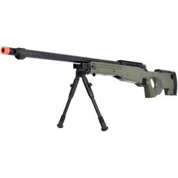 WellFire MB15 L96 Bolt Action Airsoft Sniper Rifle w/ Bipod - OD GREEN