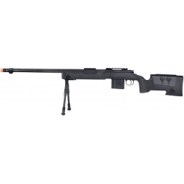 Wellfire MB4416 M40A3 Bolt Action Sniper Rifle w/ Bipod - BLACK