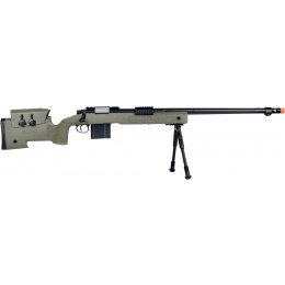 Wellfire MB4416 M40A3 Bolt Action Sniper Rifle w/ Bipod - OD GREEN