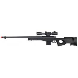 WellFire MK96 Bolt Action Rifle w/ Fluted Barrel & Scope - BLACK