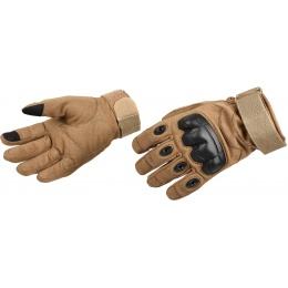 Lancer Tactical Airsoft Hard Knuckle Gloves [Medium] - TAN