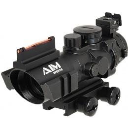 AIM Sports 4x32 Fiber Optic Red/Green Dot w/ Fiber Optic Sighting - BLACK
