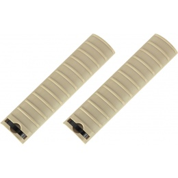 AMA 15-Slot Handguard RIS Rail Cover Panels Set of 2 - TAN