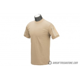 Lancer Tactical Airsoft Ripstop PC T-Shirt [Small] - COYOTE BROWN