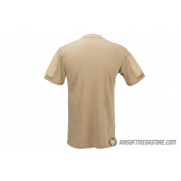 Lancer Tactical Airsoft Ripstop PC T-Shirt [Large] - COYOTE BROWN
