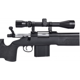 WellFire MB4416 M40A3 Bolt Action Sniper Rifle w/ Scope - BLACK