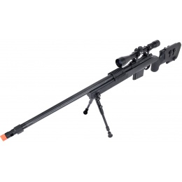 WellFire MB4416 M40A3 Bolt Action Sniper Rifle w/ Scope & Bipod - BLACK