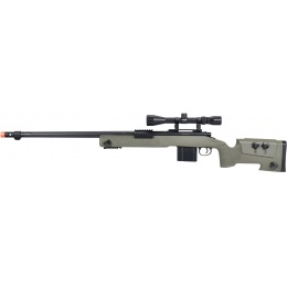 WellFire MB4416 M40A3 Bolt Action Sniper Rifle w/ Scope - OD GREEN