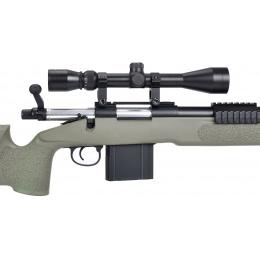 WellFire MB4416 M40A3 Bolt Action Sniper Rifle w/ Scope - OD GREEN