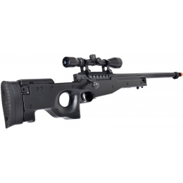 WellFire MB15 L96 Bolt Action Airsoft Sniper Rifle w/ Scope - BLACK