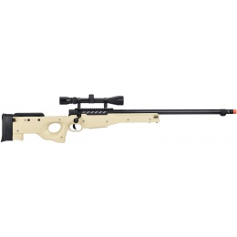 WellFire MB15 L96 Bolt Action Airsoft Sniper Rifle w/ Scope - TAN