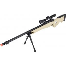WellFire MB15 L96 Bolt Action Airsoft Sniper Rifle w/ Scope & Bipod - TAN