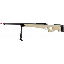 WellFire MB15 L96 Bolt Action Airsoft Sniper Rifle w/ Bipod - TAN