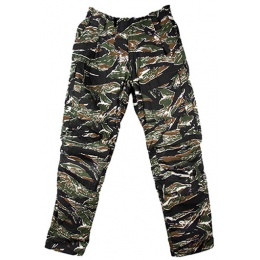 AMA Tactical Combat Elastic Waist Pants [LRG] - TIGER STRIPE