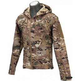 Lancer Tactical Airsoft Softshell BDU Jacket [LARGE] - CAMO