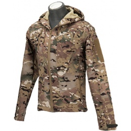 Lancer Tactical Airsoft Softshell BDU Jacket [XL] - CAMO