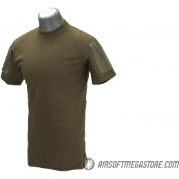 Lancer Tactical Airsoft Ripstop PC T-Shirt [LARGE] - OD GREEN