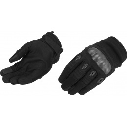 Lancer Tactical Kevlar Airsoft Tactical Hard Knuckle Gloves [MED] - BLACK