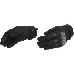 Lancer Tactical Kevlar Airsoft Tactical Hard Knuckle Gloves [MED] - BLACK