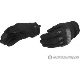Lancer Tactical Kevlar Airsoft Tactical Hard Knuckle Gloves [XL] - BLACK