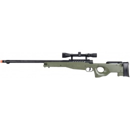 WellFire MB15 L96 Bolt Action Airsoft Sniper Rifle w/ Scope - OD GREEN