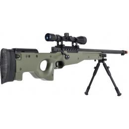 WellFire MB15 L96 Bolt Action Airsoft Sniper Rifle w/ Scope & Bipod - OD GREEN